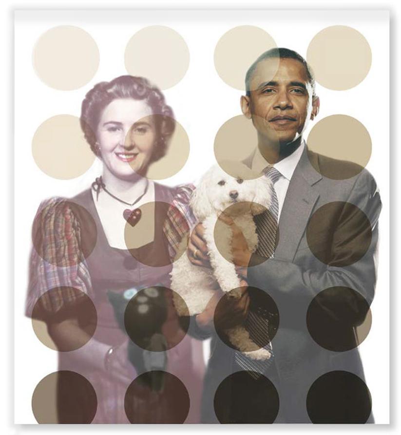 Barak Obama und Eva Braun